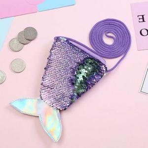 Girl's Sequins Mermaid Tail Purse